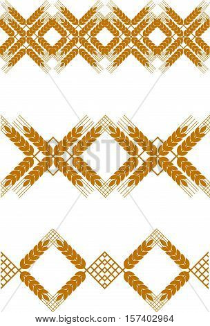 Abstract graphic set of spica seamless pattern