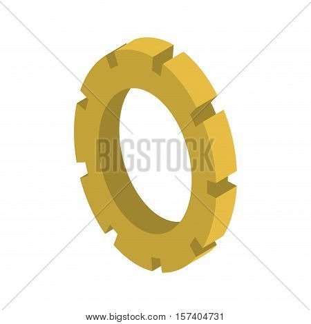 tridimensional silhouette gear wheel icon vector illustration