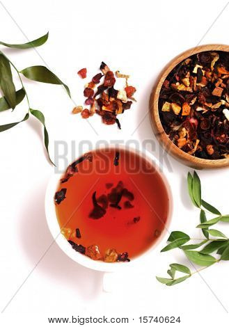 closeup of fruit tea. healthy lifestyle