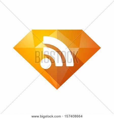 Isolated Diamond With An Rss Sign