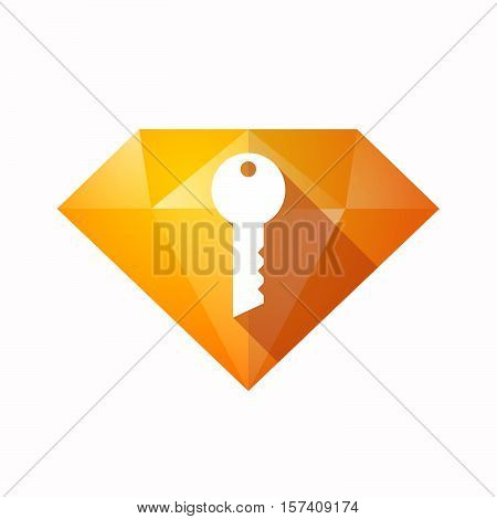 Isolated Diamond With A Key