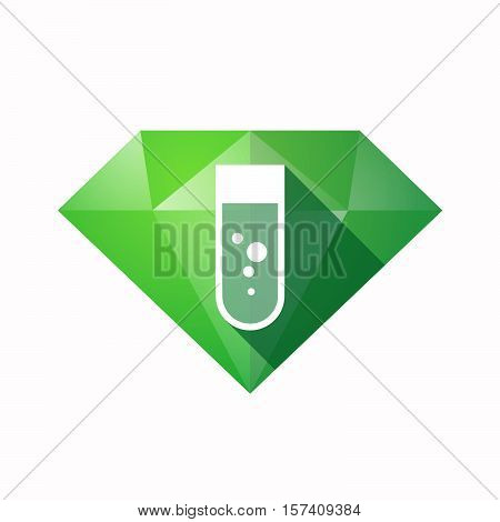 Isolated Diamond With A Chemical Test Tube