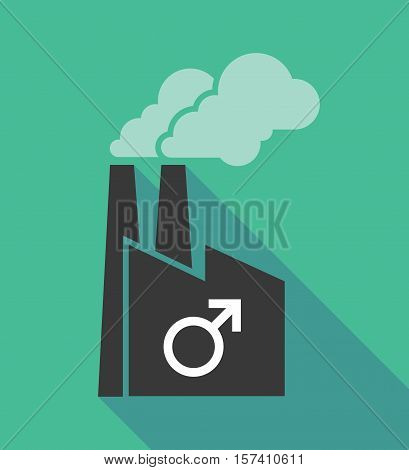 Factory Icon With A Male Sign