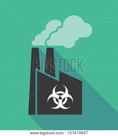 Factory Icon With A Biohazard Sign