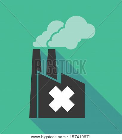 Factory Icon With An Irritating Substance Sign