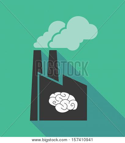 Factory Icon With A Brain