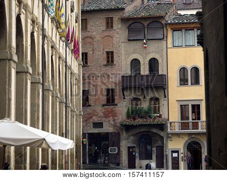 Picturesque Piazza Grande - Arezzo Tuscany Italy