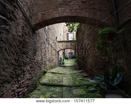 lovely steep and narrow streets of Cortona. Tuscany