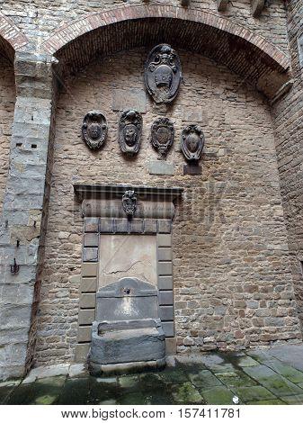 Cortona - Palazzo Casali . Inside the Palazzo Casali is the Museo dell'Accademia Etrusca poster