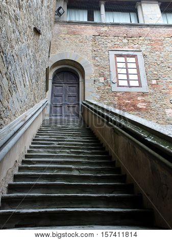 Cortona - Palazzo Casali . Inside the Palazzo Casali is the Museo dell'Accademia Etrusca