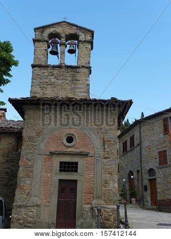 church of Saint Christopher in Cortona. Umbria. Italy