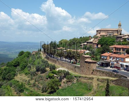Medieval Town In Montalcino in Tuscany Italy