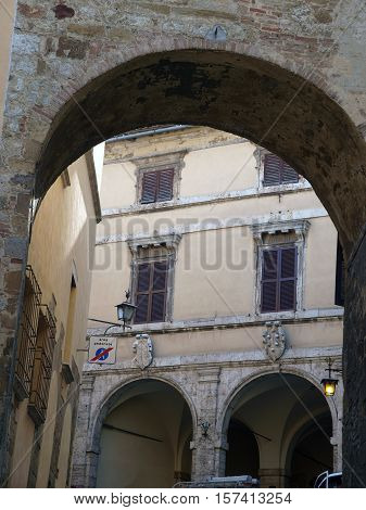 Montepulciano - the narrow streets of the historic city center