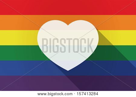 Long Shadow Lgbt Flag With A Heart