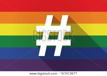 Long Shadow Lgbt Flag With A Hash Tag