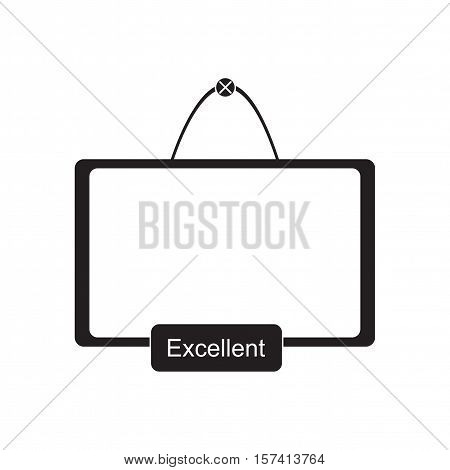 Flat icon in black and  white interactive board