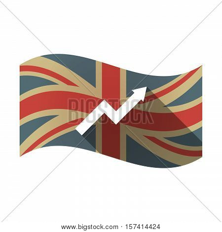 Isolated Uk Flag With A Graph