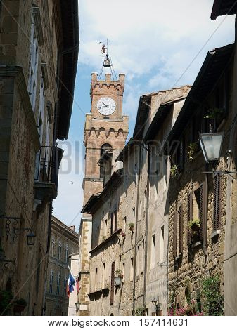 Pienza - a city with a rare example of Renaissance town design.