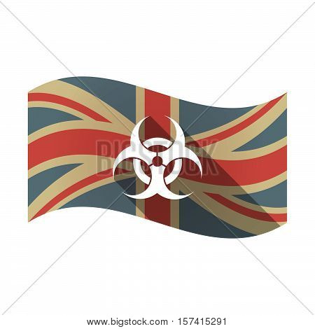 Isolated Uk Flag With A Biohazard Sign