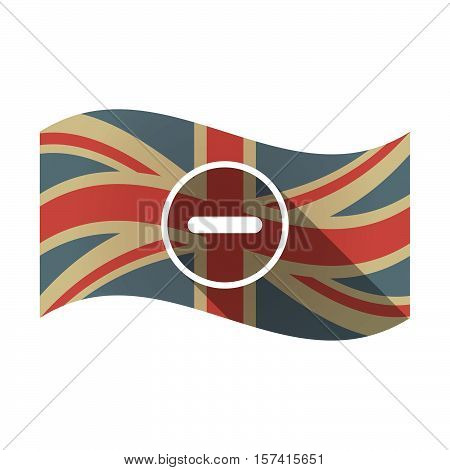 Isolated Uk Flag With A Subtraction Sign