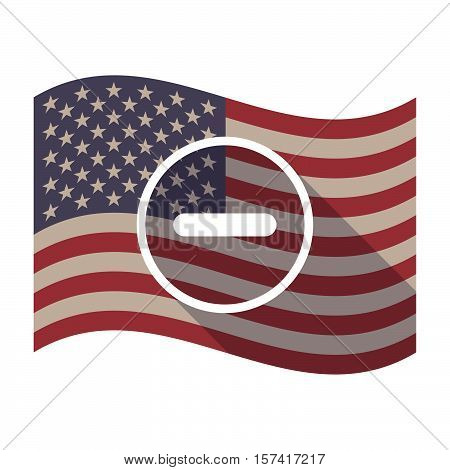 Long Shadow Usa Flag With A Subtraction Sign