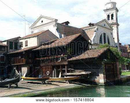 One of the oldest workshops producing gondolas in Venice located in San Trovaso in the Dorsoduro district