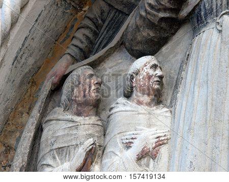 Venice - the facade of the church of San Stefano