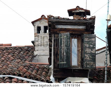 Venice - the roofs of buildings at the Campo San Stefano