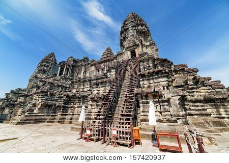 Stairs To Upper Galleries And Towers Of Angkor Wat, Cambodia