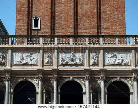 The bas-reliefs from Loggetta Sansovino - Venice