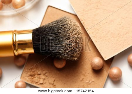 Face powder - make-up for fashion and beauty magazines. soft focus