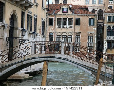 VENICE, ITALY - MAY 23, 2010: Venice - peaceful and charming district of Dorsoduro