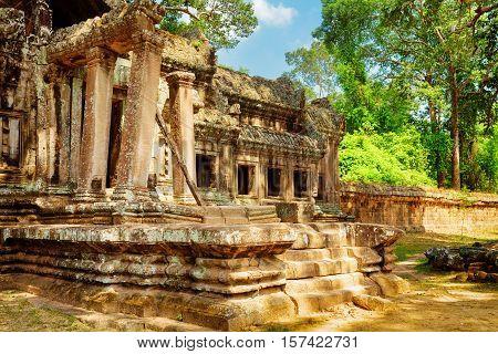 Ruins Of Ta Kou Entrance In Angkor Wat. Siem Reap, Cambodia