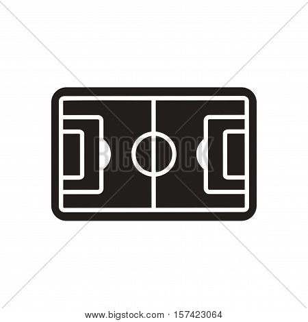 Flat icon in black and  white football field