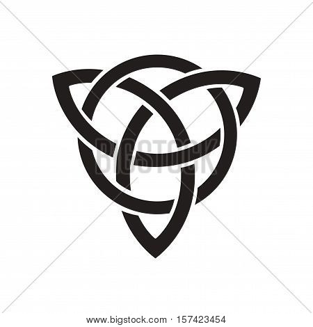 Flat icon in black and  white celtic symbol