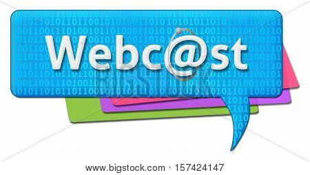 Webcast text written over blue background in a conceptual way.