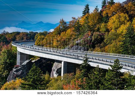 Wide Curve Of Linn Cove Viaduct