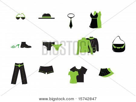 Green Clothing vectors