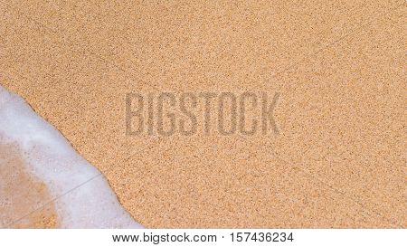 Yellow Sand and Gentle Wave, Left Corner, Nikki Beach, Bali, Indonesia