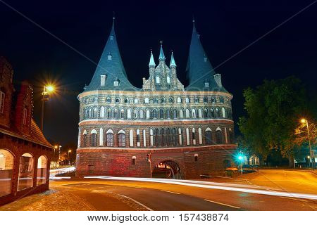 Holsten Gate Of Lubeck In Germany,  City Gate
