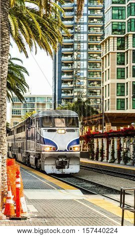 Diesel Locomotive In San Diego, California.
