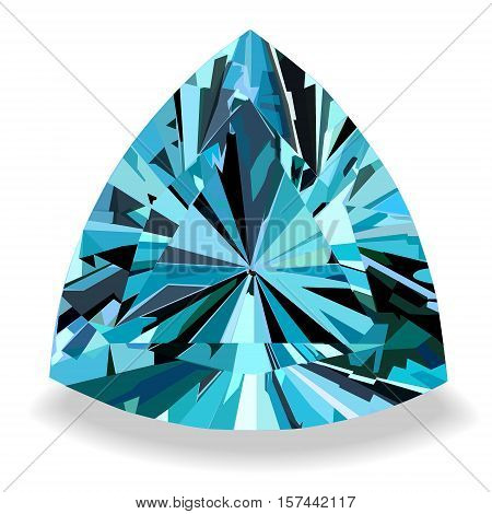 Blue topaz with highlights of light and shadow