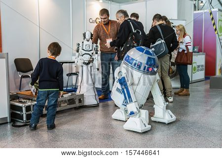 Moscow Russia November 4 2016: The 4rd International Exhibition of Robotics and advanced technologies