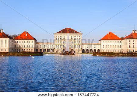 Nymphenburg Palace (Schloss Nymphenburg), Germany on sunny day