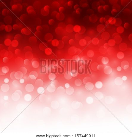 Christmas abstract background red blinking bokeh.