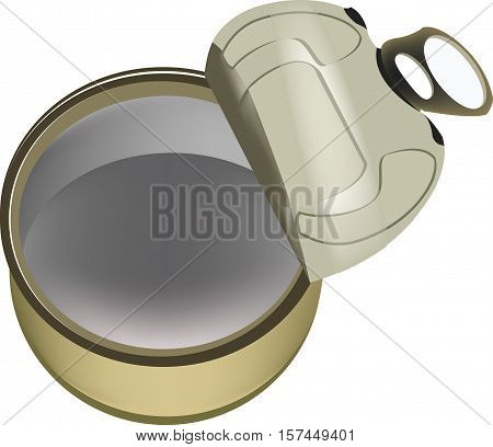 Empty Opened Tin Can Empty open tin can for food preservation