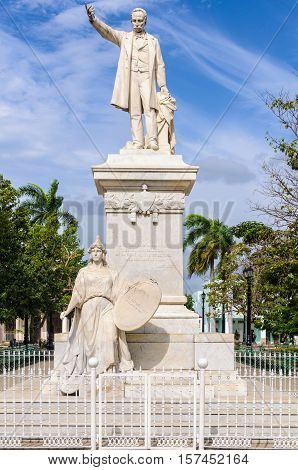 Jose Marti Statue In The Main Square Of Cienfuegos, Cuba