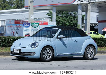CHIANG MAI THAILAND - OCTOBER 27 2016: Private Car Volkswagen beetle. On road no.1001 8 km from Chiangmai Business Area.