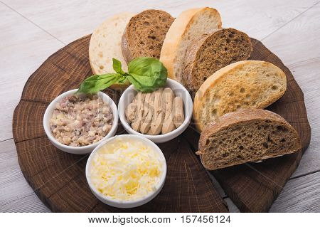 Cut Slices Of Bread