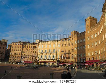 Siena, Piazza Del Campo In Siena